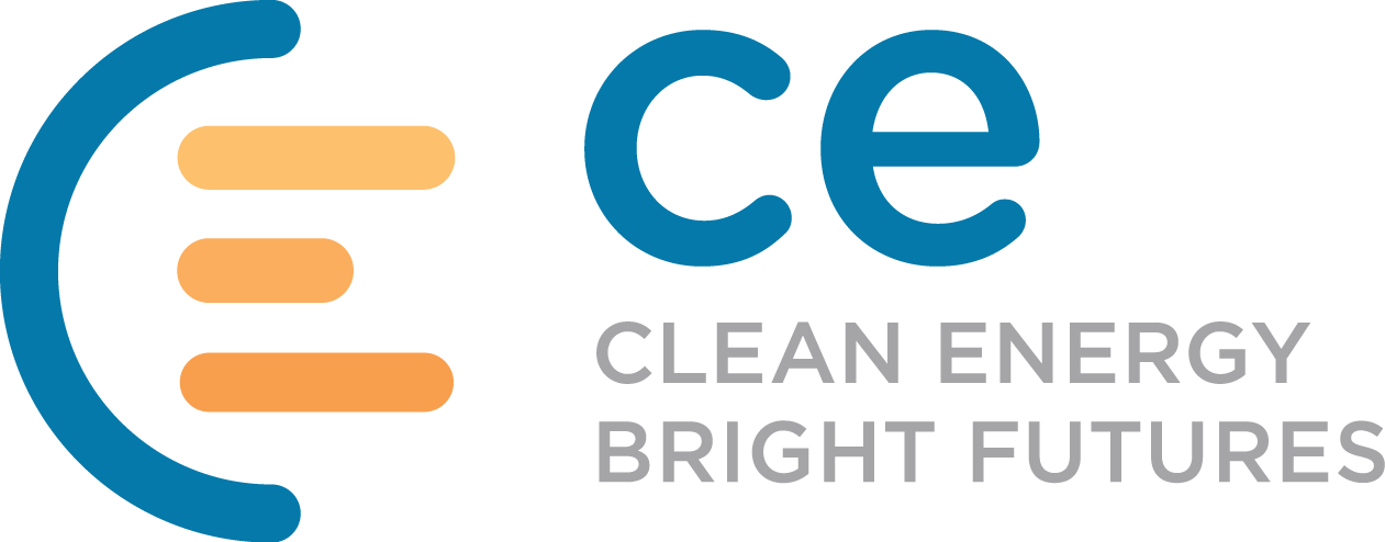 CE - Clean Energy. Bright Futures. Logo