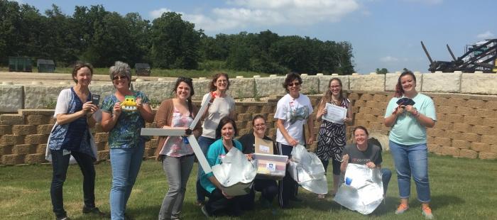 Denton TX teachers with science kits